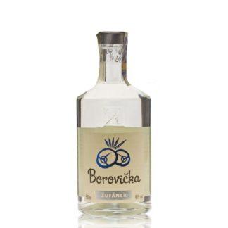 Borovička z lihovaru Žufánek je prý hipsterský gin. Nedochucovaný a nedoslazovaný destilát plodů jalovce je vyráběn dle nejlepšího vědomí a svědomí.