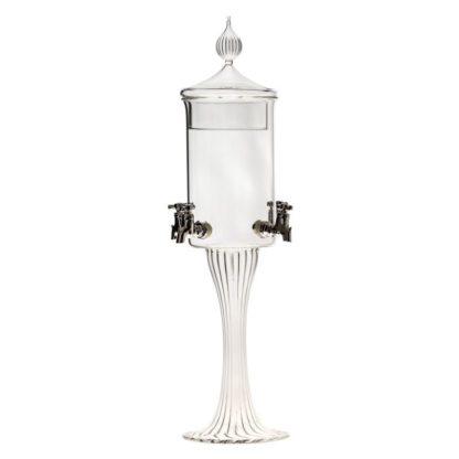 Jednoduchá čtyřkohoutková absinthe fontána Ilex od sklářů se zlatými českými ručičkami. Vhodná pro domácí i komerční použití.