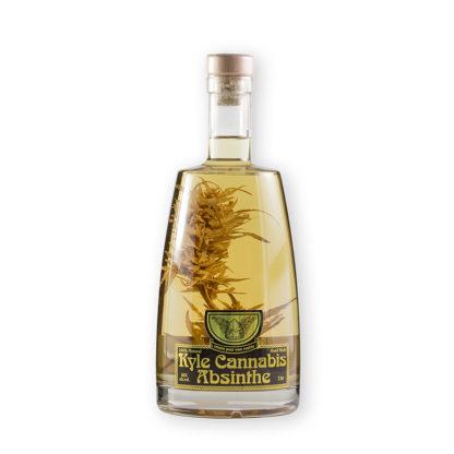 Kyle Cannabis je speciální edice verte absinthu, která je dobarvována přidáním květu Cannabis Sativa kultivator Carmagnola.