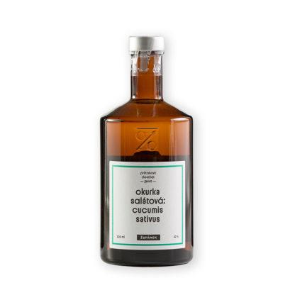 Okurka salátová z řady netradičních geistů palírny Žufánek je nefiltrovaný průtahový destilát z moravské BIO salátové okurky se silnou chutí a výrazným aroma. Ideální společník k ginu a tonicu.