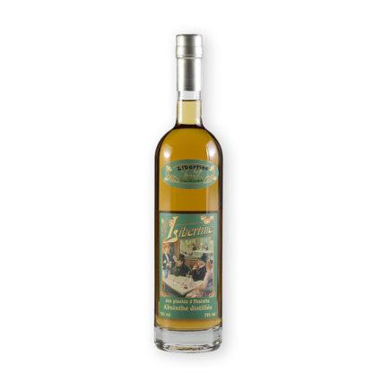 Verte absinthe Libertine Intense se svými 72% alkoholu je nejsilnější ze stejnojmenné řady absithů z produkce destilérie Paul Devoille.