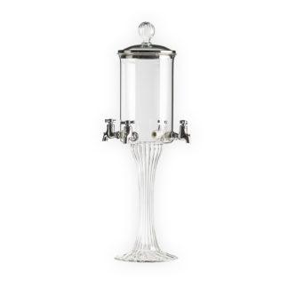 Jednoduchá čtyřkohoutková absinthe fontána Ilex duo od sklářů se zlatými českými ručičkami. Vhodná pro domácí i komerční použití.